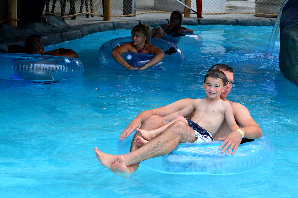 Lazy River at the Indoor Outdoor Water Park