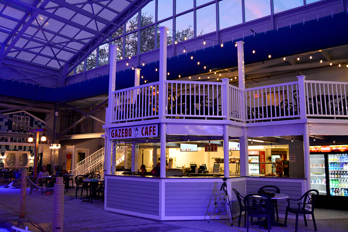 Gazebo Cafe inside the Water Park