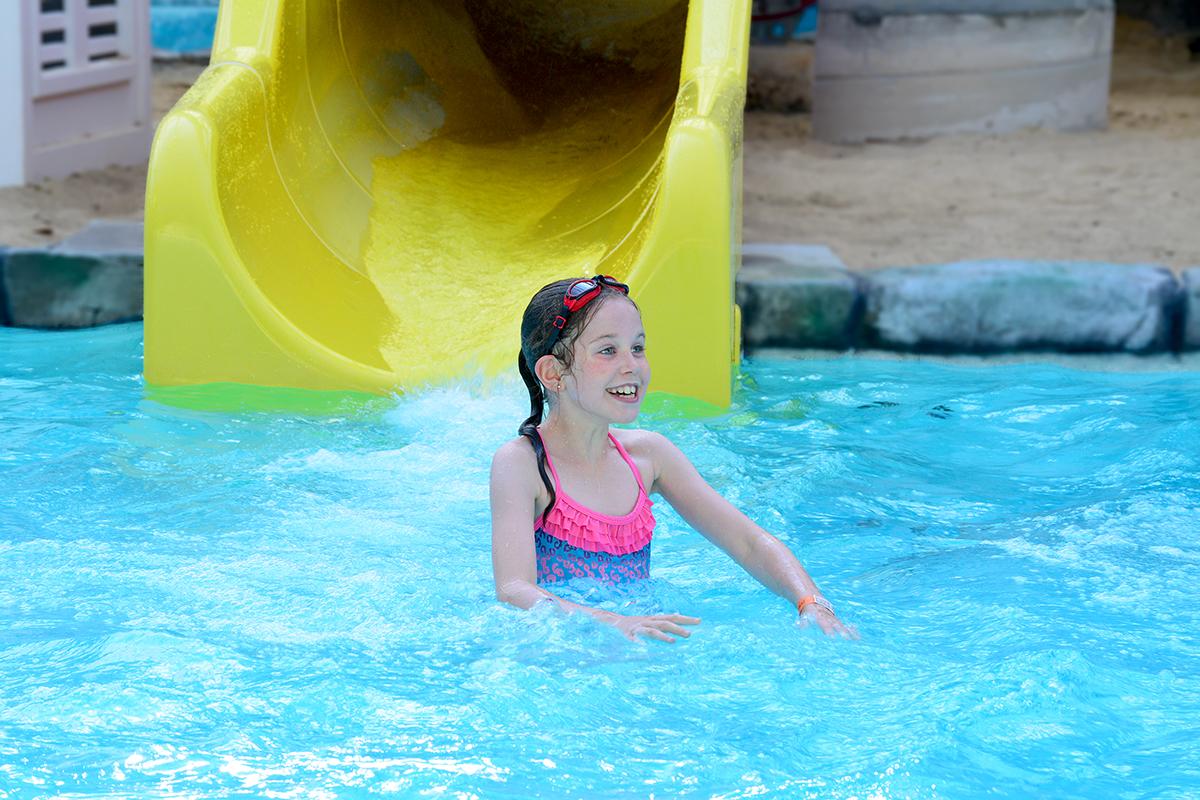 Yellow Slide Splash Down