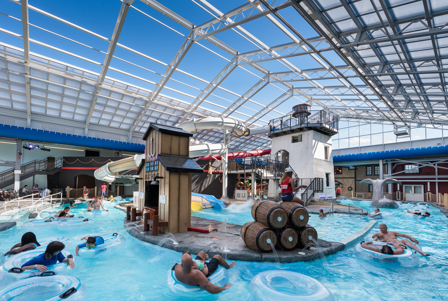 Indoor Outdoor Water Park Roof Open